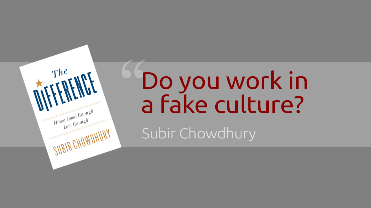 "What is a ""fake culture""?"
